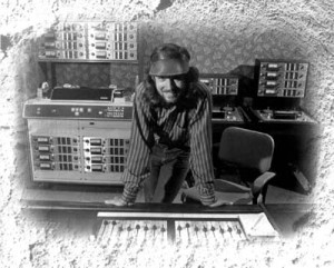 Here I am at my first studio gig: rock'n'roll recording engineer